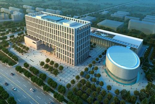 黄骅港联合办公楼GFRC仿石挂板项目